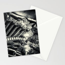 Machine Part BNW Abstract II Stationery Cards