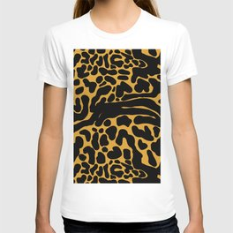 King Cheetah Print in Classic Black + Tan T-shirt