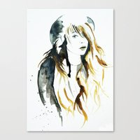 belle Canvas Prints featuring Belle by ne11amae