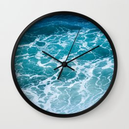 Ocean Waves in Hawaii Wall Clock