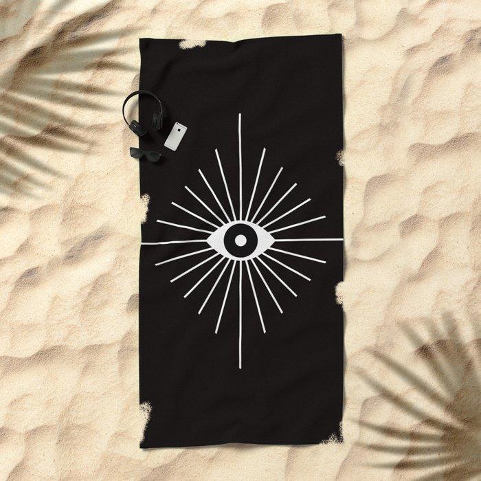 ELECTRIC EYES Beach Towel