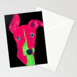 italian greyhound - blk Stationery Cards