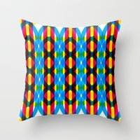 dna Throw Pillows featuring DNA by dzynwrld
