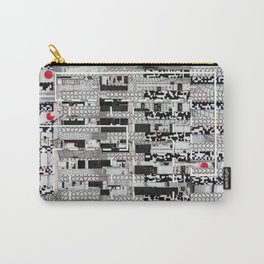 Opportunistic Species (P/D3 Glitch Collage Studies) Carry-All Pouch