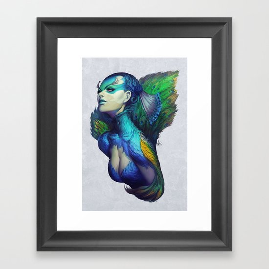Peacock Queen Framed Art Print