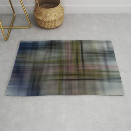 Deconstructed Abstract Scottish Plaid Pattern Rug