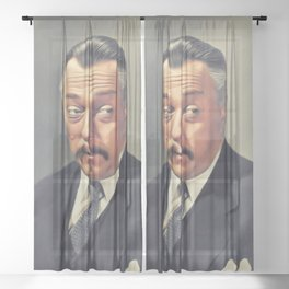 R. Winters as Charlie Chan Sheer Curtain