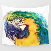 parrot Wall Tapestries featuring Parrot by jbjart