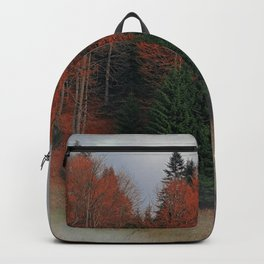 October Forest Red Green Backpack