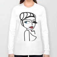 megan lara Long Sleeve T-shirts featuring Lara by Kalex Art