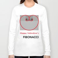 fibonacci Long Sleeve T-shirts featuring Happy Valentine´s Fibonacci by Solar Designs