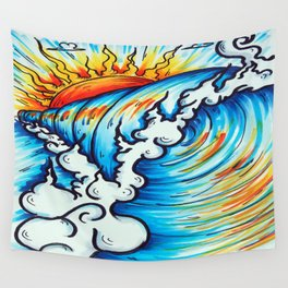 Sublime Wave  Wall Tapestry