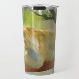 Chilling Tiger Travel Mug