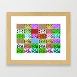 Patternless-squares-pattern Framed Art Print