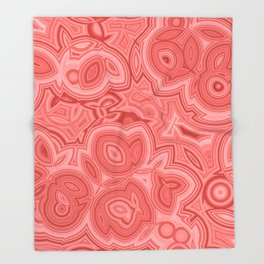 Red Agate 2 Throw Blanket