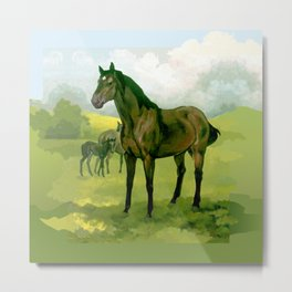 Sound Reason (CAN) - Thoroughbred Stallion Metal Print