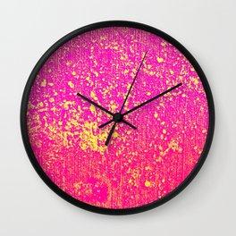 Pink & Salt Wall Clock