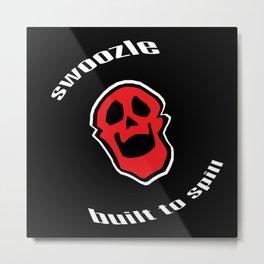 Swoozle Skull Buddy Metal Print