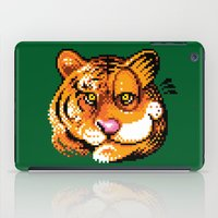 tigers iPad Cases featuring 2 Tigers by Chawalit Jitsanorh