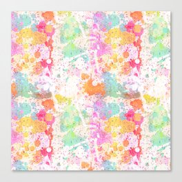 Abstract Paint Splatters Assorted Colors Canvas Print