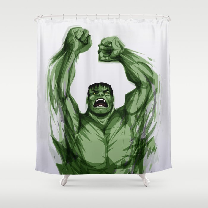 The Hulk Shower Curtain