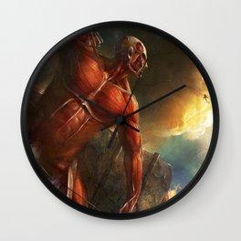 colossal titan appears Wall Clock