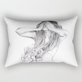 Rabbit Ghost Rectangular Pillow