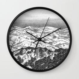 San Jose Hills Wall Clock