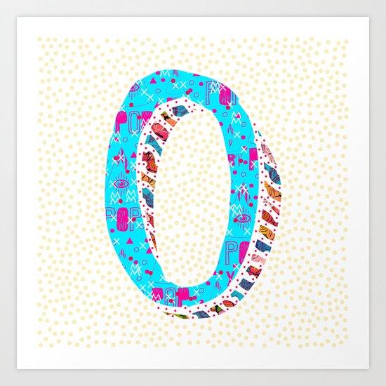 O (Coffee Series) Art Print