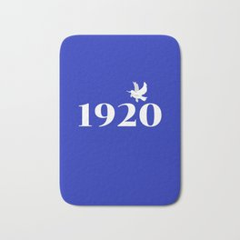1920 Blue Dove Bath Mat