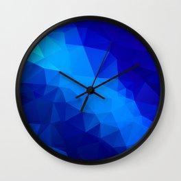 Abstract digital art polygon triangles Wall Clock