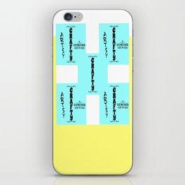 artsy crafty iPhone Skin