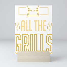 Griller Grill Master Grilling Funny BBQ Lover Gift Mini Art Print