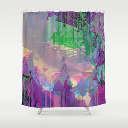Glitched Landscape 2 Shower Curtain