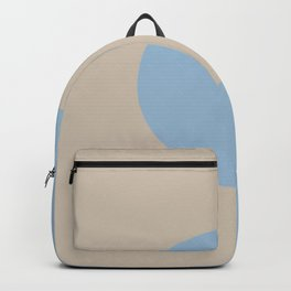 Pastel Blue Beige Minimal Circle Design 2021 Color of the Year Earth's Harmony and Oatmeal Beige Backpack