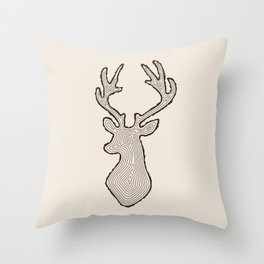 My Deer Tree Throw Pillow