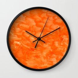 Orange Explosion Wall Clock