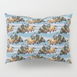 Blue Bee Pattern Pillow Sham