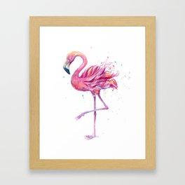 Fancy Pink Flamingo Framed Art Print