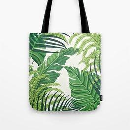 Green tropical leaves II Tote Bag