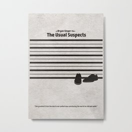 The Usual Suspects Metal Print