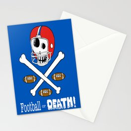 football or death! red white and blue Stationery Cards