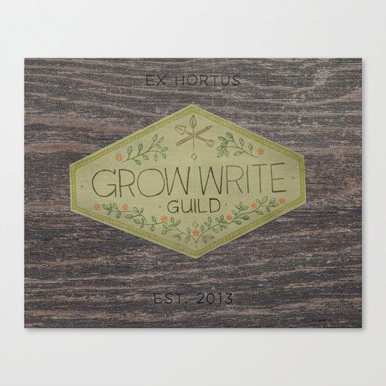 Grow Write Guild Seal Canvas Print