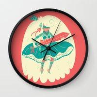 ass Wall Clocks featuring Magical Ass Kicker by Polite Yet Peculiar