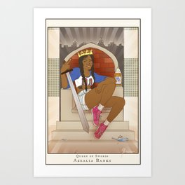 Queen of Swords - Azealia Banks Art Print