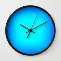 turquoise Wall Clocks featuring Turquoise. Bright Blue by 2sweet4words Designs