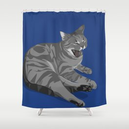 Apathy Killed the Cat Shower Curtain