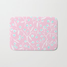 skyberries in pink forest Bath Mat
