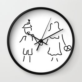 German Germany to Bavarians dirndl Wall Clock