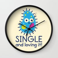 biology Wall Clocks featuring It's All About Paramecium by David Olenick